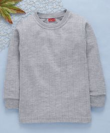 Babyhug Full Sleeves Thermal Vest - Light Grey