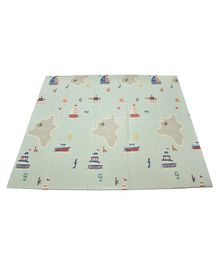 Notty Ride Folding Mat Ship Print - Green
