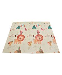 Notty Ride Folding Mat Animal Print - Beige