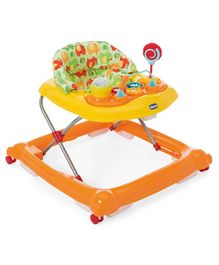 Chicco Baby Walker With Play Tray - Orange