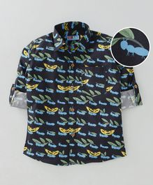 Kid Studio Ants & Banana Print Full Sleeves Shirt - Blue