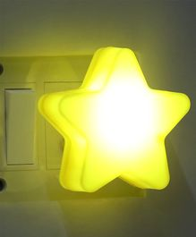LED Night Lamp Star Shape - Yellow