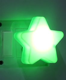 LED Night Lamp Star Shape -Green