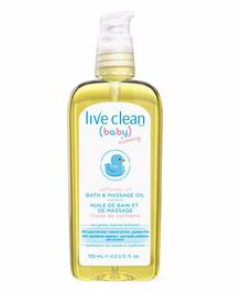 Live Clean Baby & Mommy Safflower Bath & Massage Oil - 125 ml