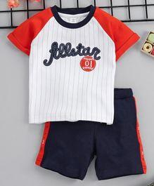 aa2277d4b11 Toffyhouse Half Sleeves Tee   Shorts Set Allstar Patch - White Orange Blue