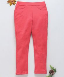 Babyhug Full Length Solid Jeggings - Pink