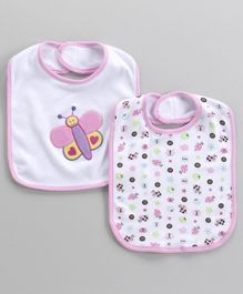 Owen Bibs With Butterfly Patch & Multi Print Pack of 2 (Colour and Print may vary)