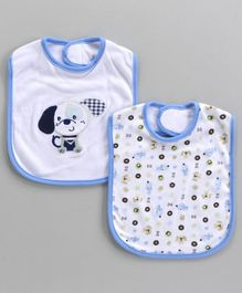 Owen Bibs With Zebra Patch & Multi Print Pack of 2 (Colour and Print may vary)