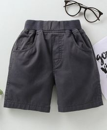 Jash Kids Solid Shorts - Grey