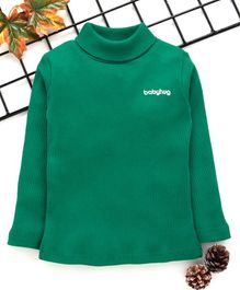 Babyhug Full Sleeves Turtle Neck Winter Tee - Dark Green