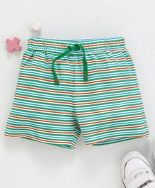 Babyhug  Elastic Waist Striped Shorts - Green