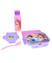 Disney Lock And Seal Combo Of Lunch Box and Water Bottle - Pink