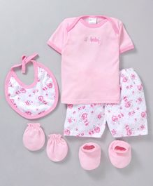 Montaly Clothing Gift Set Pink - 9 Pieces