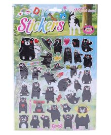 Panda Shape Wall Stickers - Black