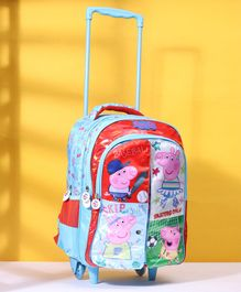 Peppa Pig School Flap Trolley School Bag Blue - 16 Inches
