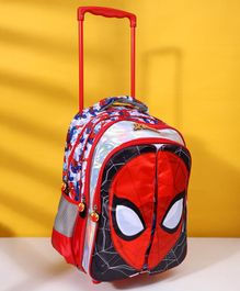 Marvel Spider Man School Trolley Bag With Flap Multicolour - 16 Inches