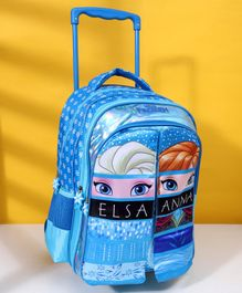 Disney Frozen School Trolley Bag With Flap Blue -  16 Inches