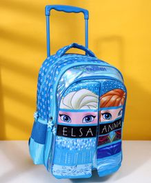 Disney Frozen School Trolley Bag With Flap Blue -  18 Inches