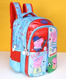 Peppa Pig School Bag With Flap Red Blue - 16 Inches