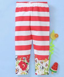 11da972073e Babyhug Full Length Striped Stretchable Legging - Red and White