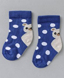 Mustang Ankle Length Socks Polka Dot Design - Blue