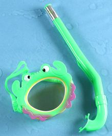 Yellowbee Crab Design Mask & Snorkel Set  - Green
