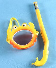 Yellowbee Crab Design Mask & Snorkel Set  - Yellow
