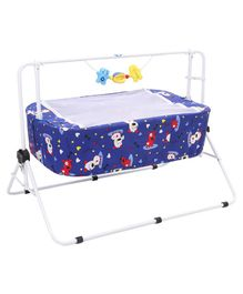 New Natraj Comfy Cradle With Mosquito Net Animal Print - Royal Blue