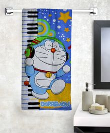Athom Trendz Doraemon Bath Towel - Blue