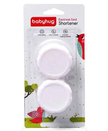 Babyhug Electric Cord Shortener Pack Of 2 - White
