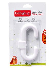 Babyhug Slide Door Lock - White