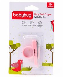 Babyhug Nail Clipper With Holder - Pink
