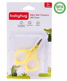 Babyhug Nail Scissor With Cover - Yellow