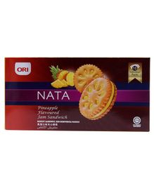 Ori Nata Pineapple Jam Sandwich Biscuit 10 Packs - 170 gm
