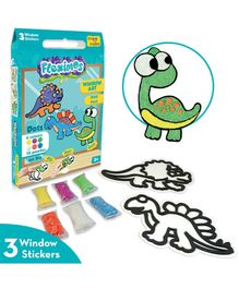 Imagi Make Fleximos Window Art Dino Pals Stickers - Multicolour