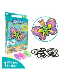 Imagi Make Fleximos Window Art Butterfly Sticker - Multicolour