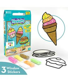 IImagi Make Fleximos Window Art Yummy Treats Sticker - Multicolour
