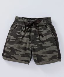 612 League Camouflage Print Shorts - Green