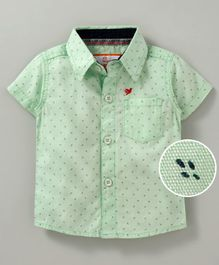 612 League Printed Half Sleeves Shirt - Green