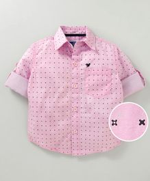 612 League Printed Half Sleeves Shirt - Pink