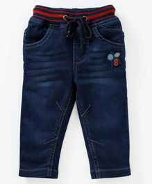 612 League Star Patch Jeans With Front Pocket - Blue
