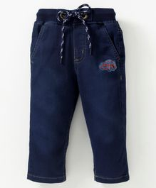 612 League Car Patch Jeans With Front Pocket - Blue
