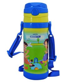 Milton Campy 650 Thermosteel Sipper Bottle Chota Bheem Print Green - 410 ml