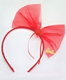 Barbie By Many Frocks & Big Bow Hair Band - Red