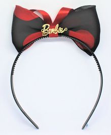 Barbie By Many Frocks & Polka Dot Print Big Bow Hair Band - Black
