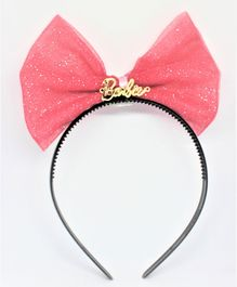Barbie By Many Frocks & Shimmer Finish Bow Hair Band - Peach