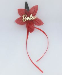 Barbie By Many Frocks & Flower Hair Clip - Maroon