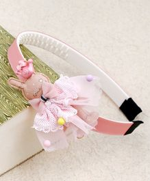 Kidlingss Bunny With Bow Detail Hair Band - Pink