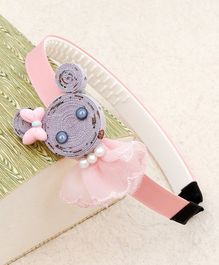 Kidlingss Cat Face With Bow Detail Hair Band - Grey