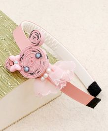 Kidlingss Cat Face With Bow Detail Hair Band - Peach